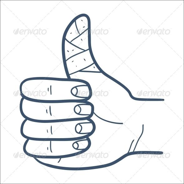 Bandaged Finger - Health/Medicine Conceptual