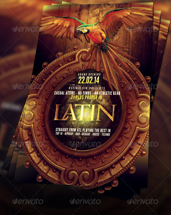 Latin Party Flyer Template - Clubs & Parties Events