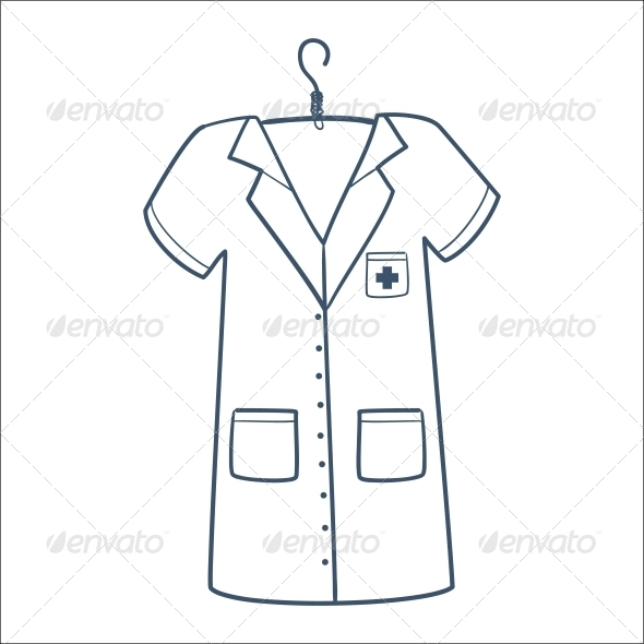Nurse or Doctor Uniform - Health/Medicine Conceptual