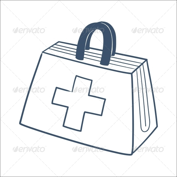 Doctor's First Aid Kit - Health/Medicine Conceptual