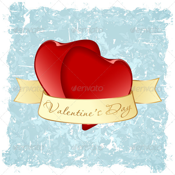 Grungy Valentine's Day Background - Valentines Seasons/Holidays