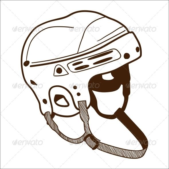 Hockey Helmet - Sports/Activity Conceptual