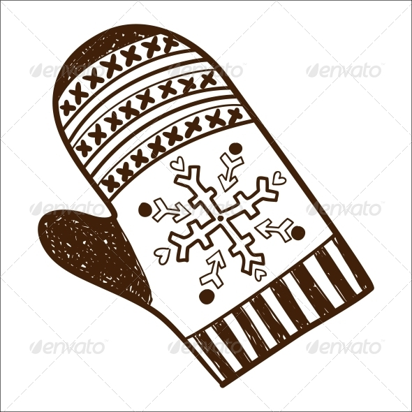 Knitted Mitten - Miscellaneous Vectors