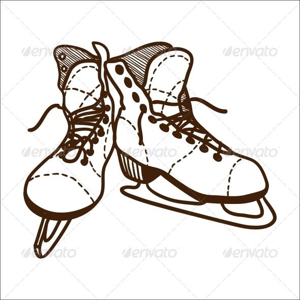 Ice Skates - Sports/Activity Conceptual