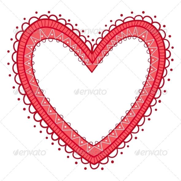 Lace Heart Frame - Valentines Seasons/Holidays