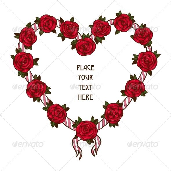 Rose Frame - Valentines Seasons/Holidays