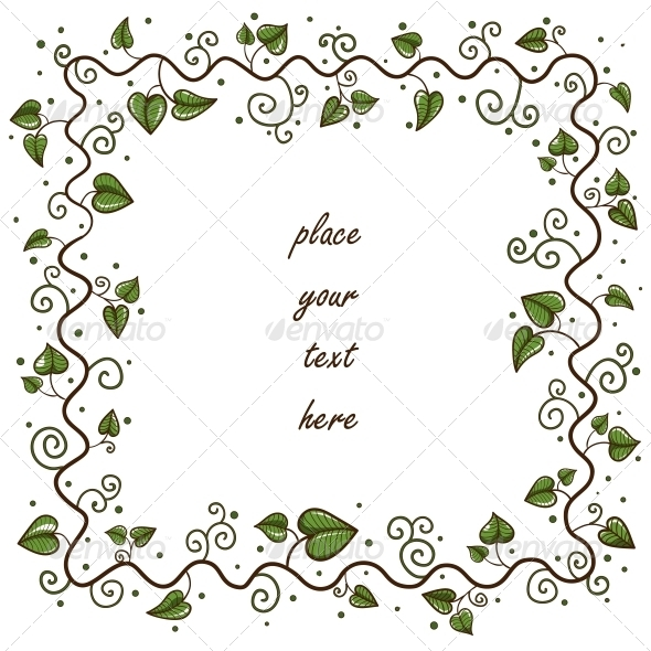 Leaves Frame - Valentines Seasons/Holidays