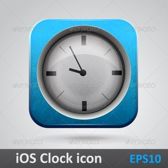 Clock Glossy Icon - Miscellaneous Conceptual