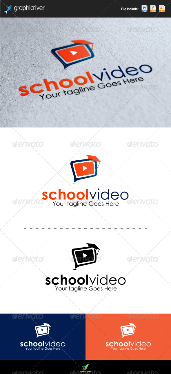 School Video Logo Template - Objects Logo Templates