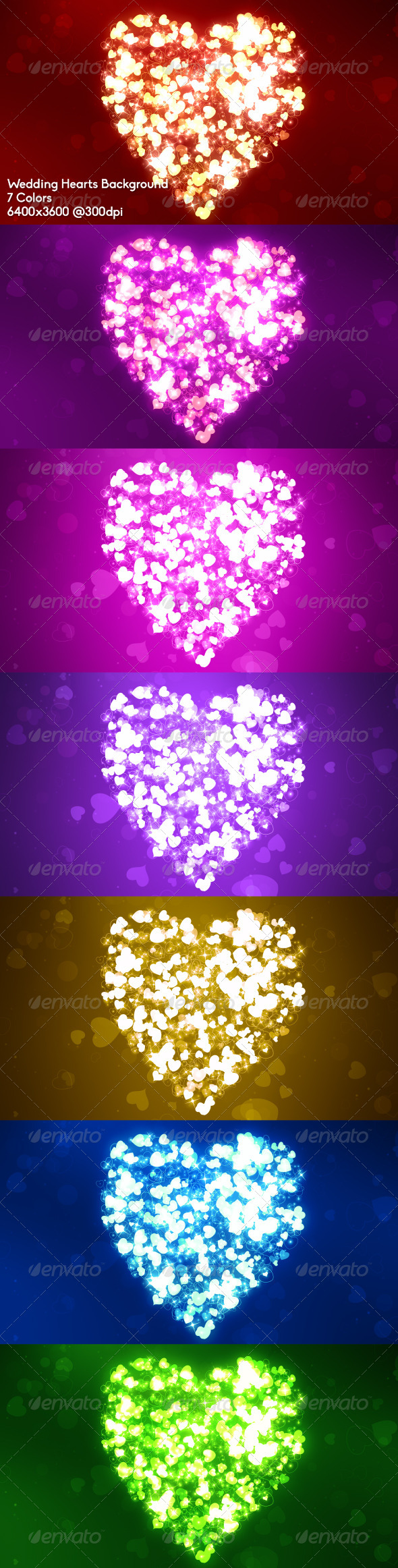 Wedding Hearts Background - Abstract Backgrounds