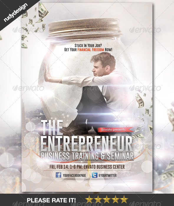 Creative Business Entrepreneur Financial Freedom - Corporate Flyers