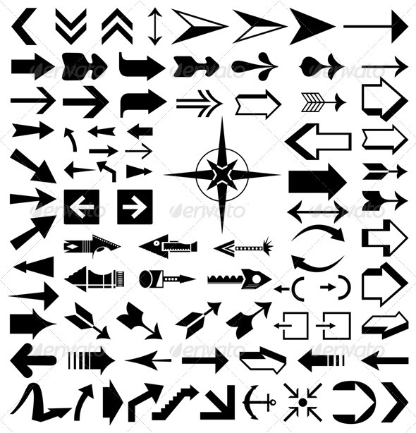 Collection of arrows2 - Miscellaneous Vectors