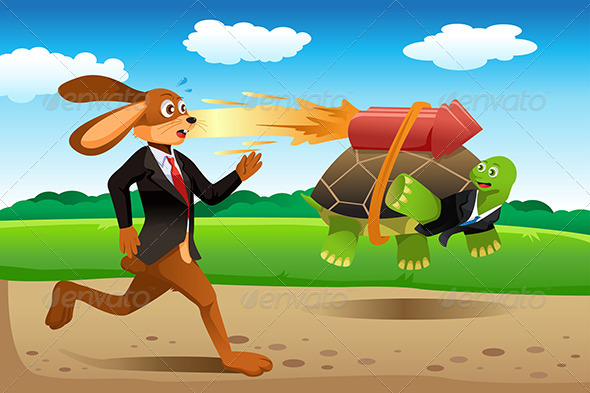 Tortoise and Hare Racing - Conceptual Vectors