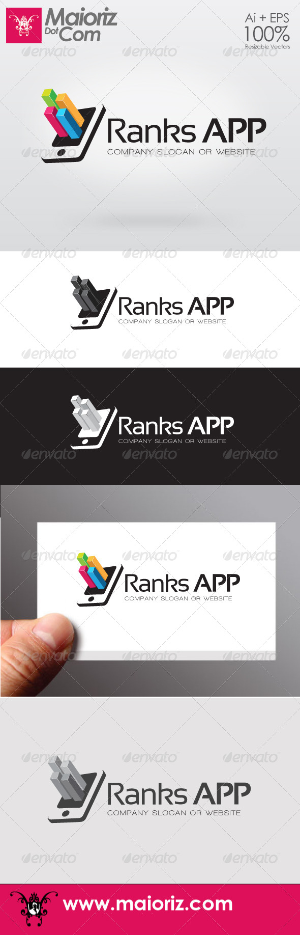 Ranks App Logo - 3d Abstract