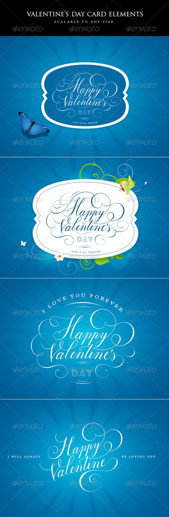 Valentines Day Design Elements - Decorative Graphics