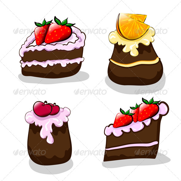 Cartoon Cakes - Food Objects