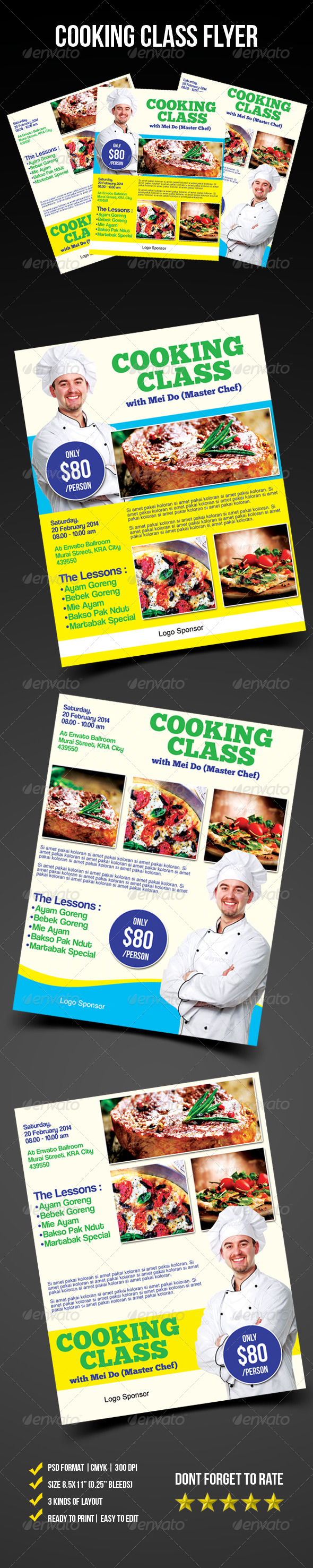 Cooking Class Flyer - Corporate Flyers