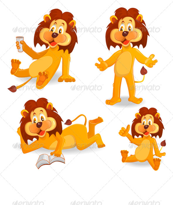 Cartoon Lions - Animals Characters