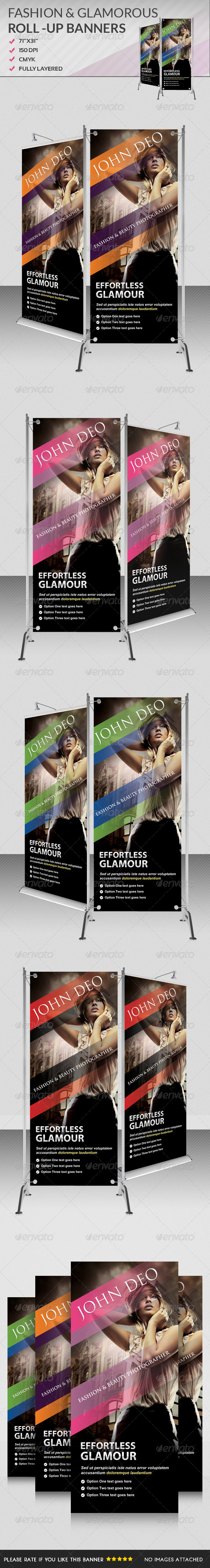 Multiporpose Glamorous Roll Up Banners II - Signage Print Templates