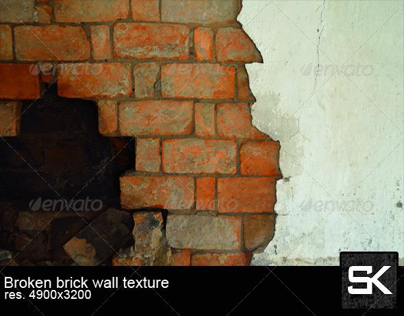 Broken Brick Wall - Stone Textures
