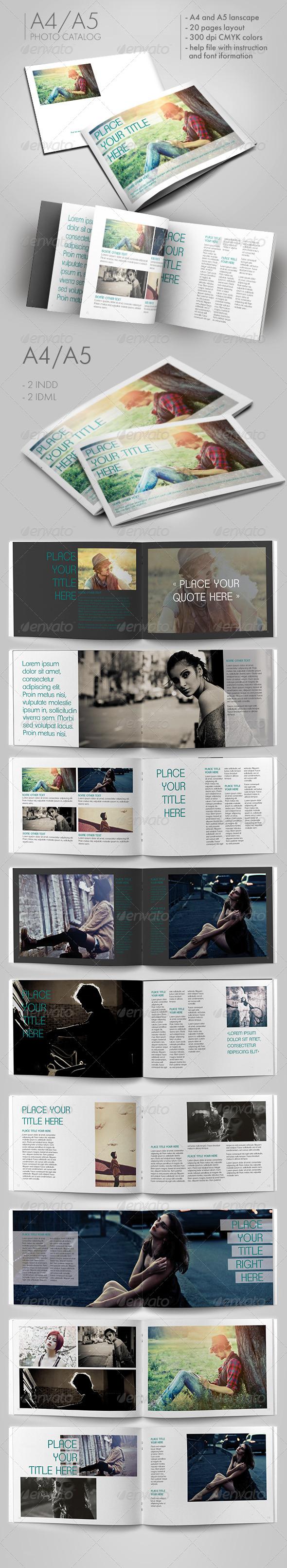 Minimal Photo Catalog - Brochures Print Templates