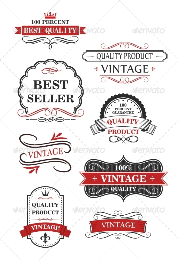 Collection of Vintage Wine Labels - Borders Decorative