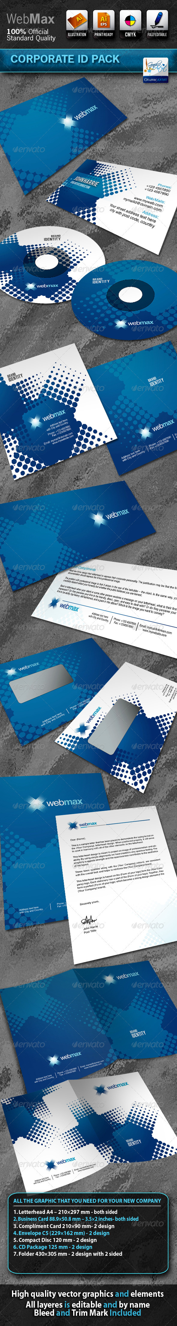WebMax Business Corporate ID Pack With Logo - Stationery Print Templates