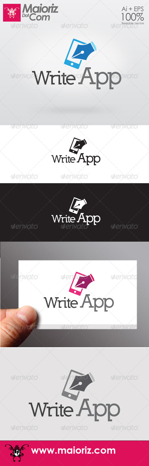 Write App Logo - Objects Logo Templates