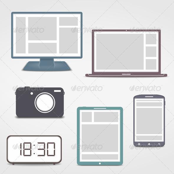 Electronics Icons - Technology Conceptual