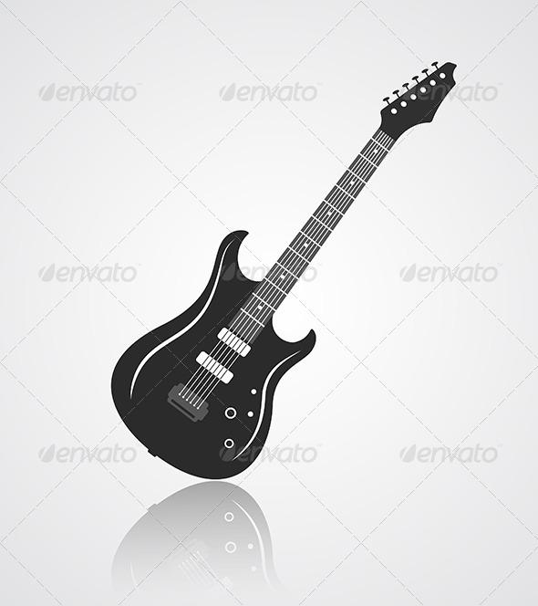 Electric Guitar Icon - Miscellaneous Conceptual