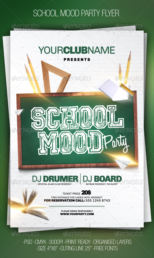 School Party Flyer - Events Flyers