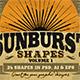 Sunbursts Shapes Vol.1 - GraphicRiver Item for Sale