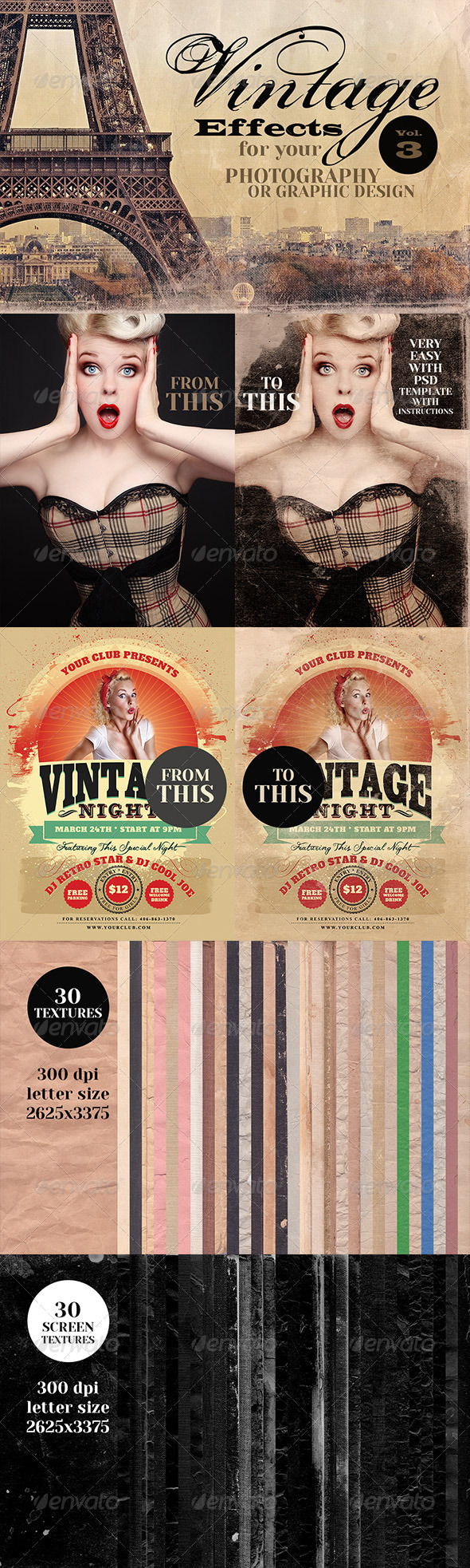 Vintage Effects for Photo, Designs 3 - Miscellaneous Photo Templates