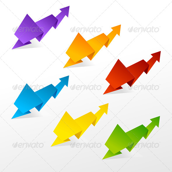 Set of Colorful Arrows - Web Technology
