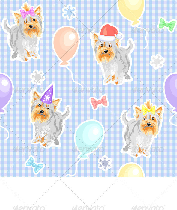 Vector seamless pattern with children's holiday do - Patterns Decorative