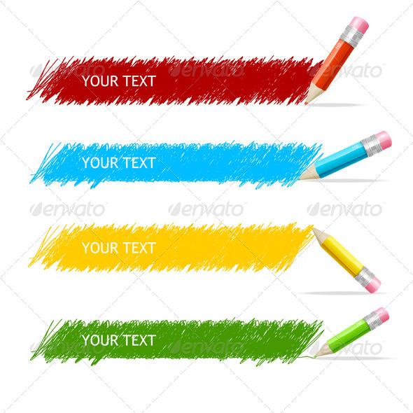 Pencil and Text Box - Web Elements Vectors