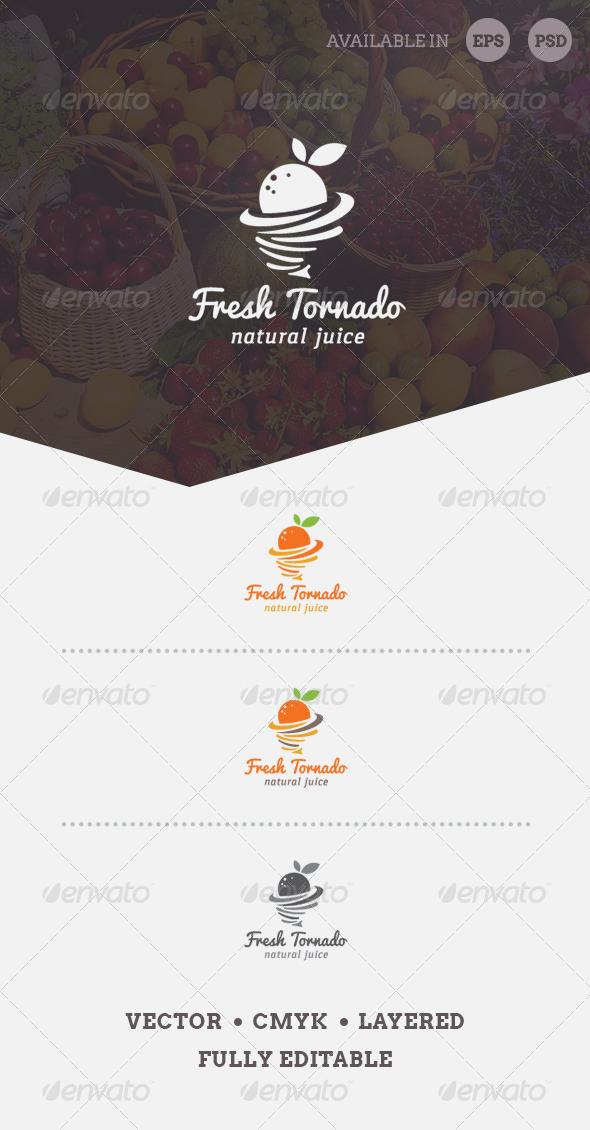 Fresh Tornado Logo Template - Food Logo Templates