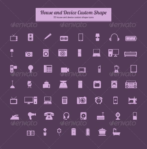 House and Device Custom Shape - Shapes Photoshop