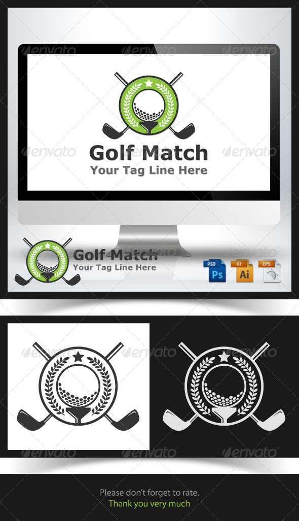 Golf Match Logo - Symbols Logo Templates