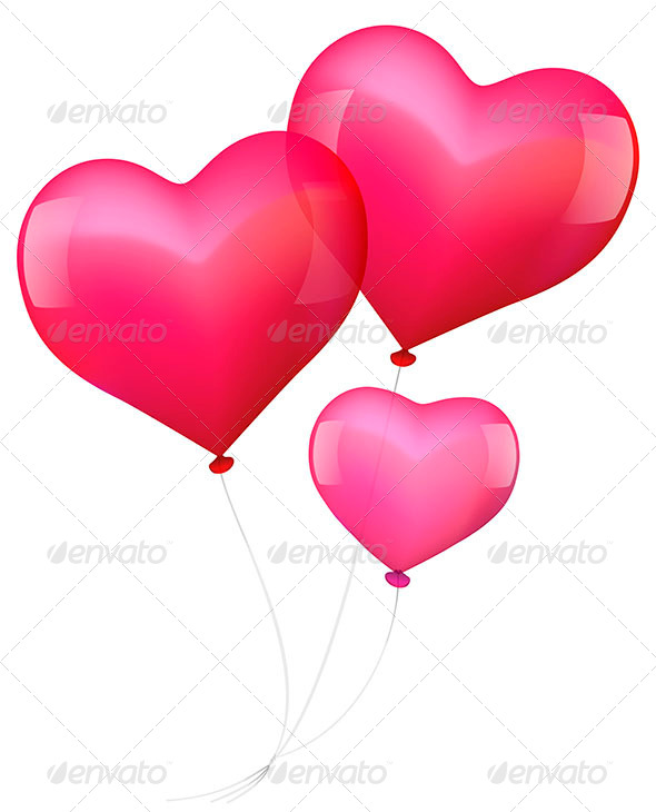 Balloons in Love - Decorative Symbols Decorative