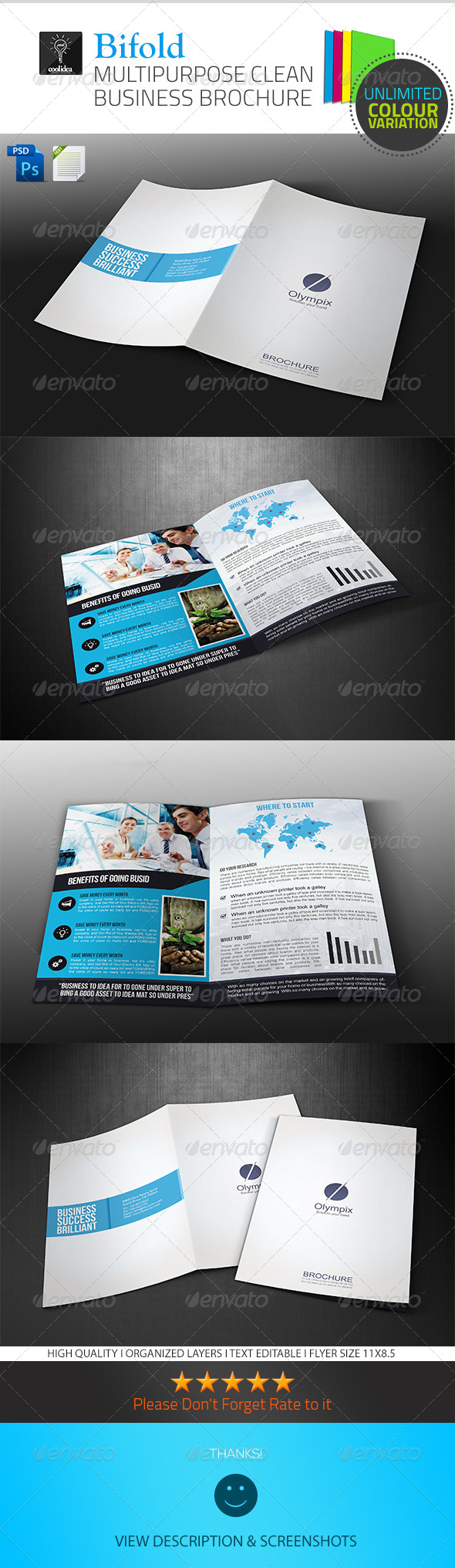 A4 Business Brochure/ Bifold Vol01 - Corporate Brochures
