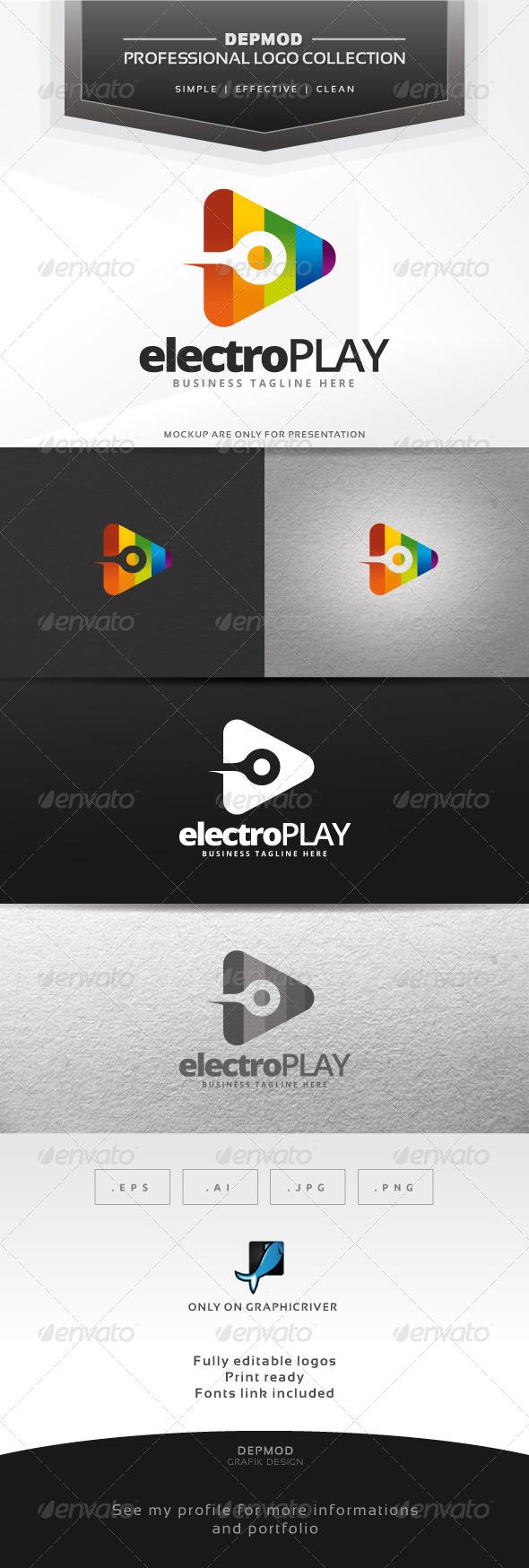 Electro Play Logo - Symbols Logo Templates