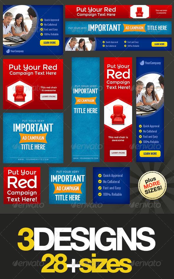 Multipurpose Web Banner Design Bundle 4 - Banners & Ads Web Elements