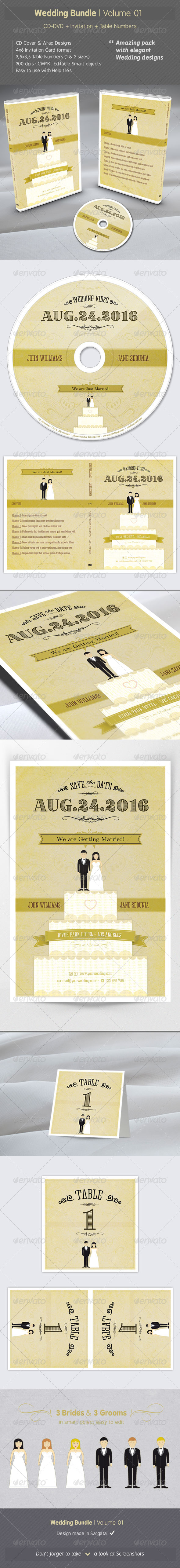 Wedding Bundle - Volume 01 - Weddings Cards & Invites