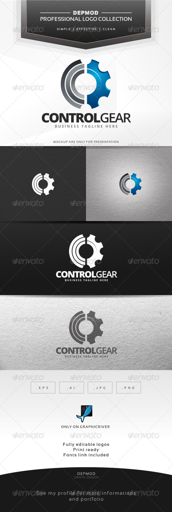 Control Gear Logo - Symbols Logo Templates