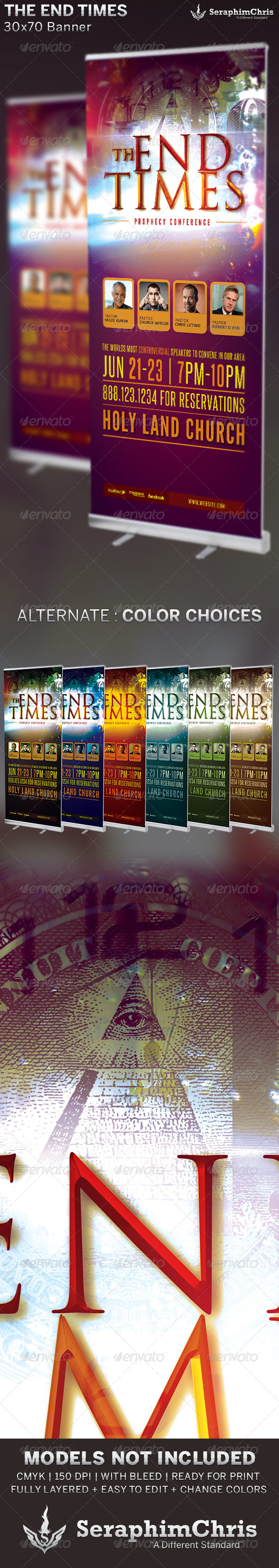 The End Times: Banner Template - Signage Print Templates
