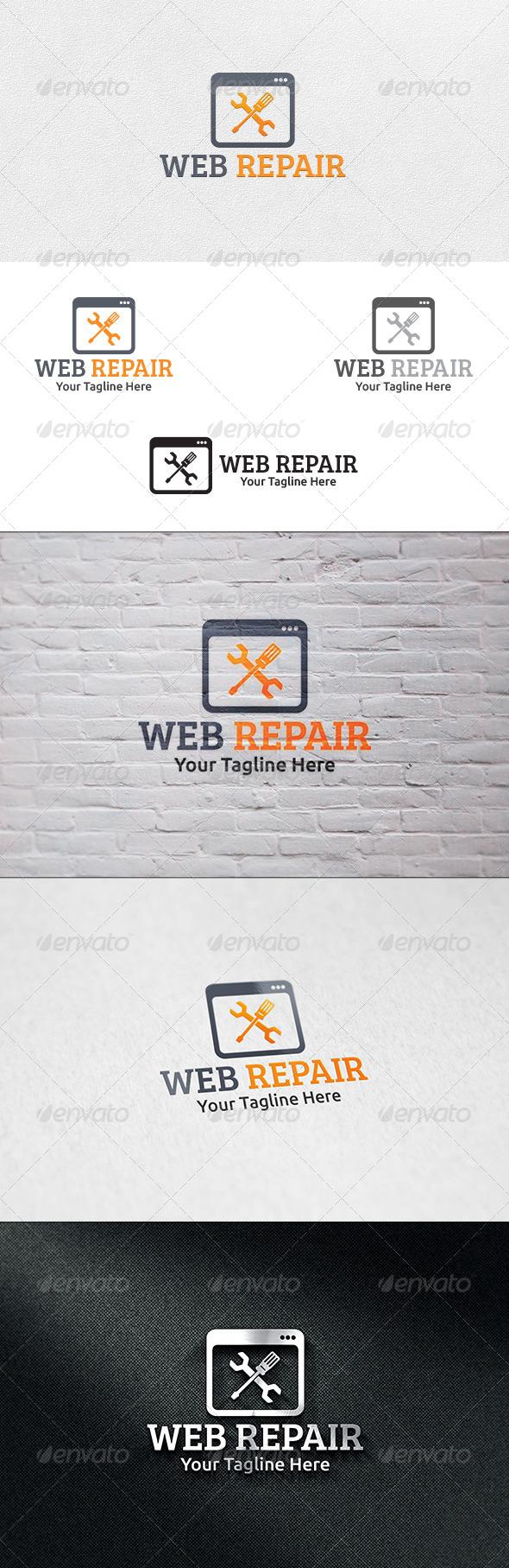 Web Repair - Logo Template - Symbols Logo Templates