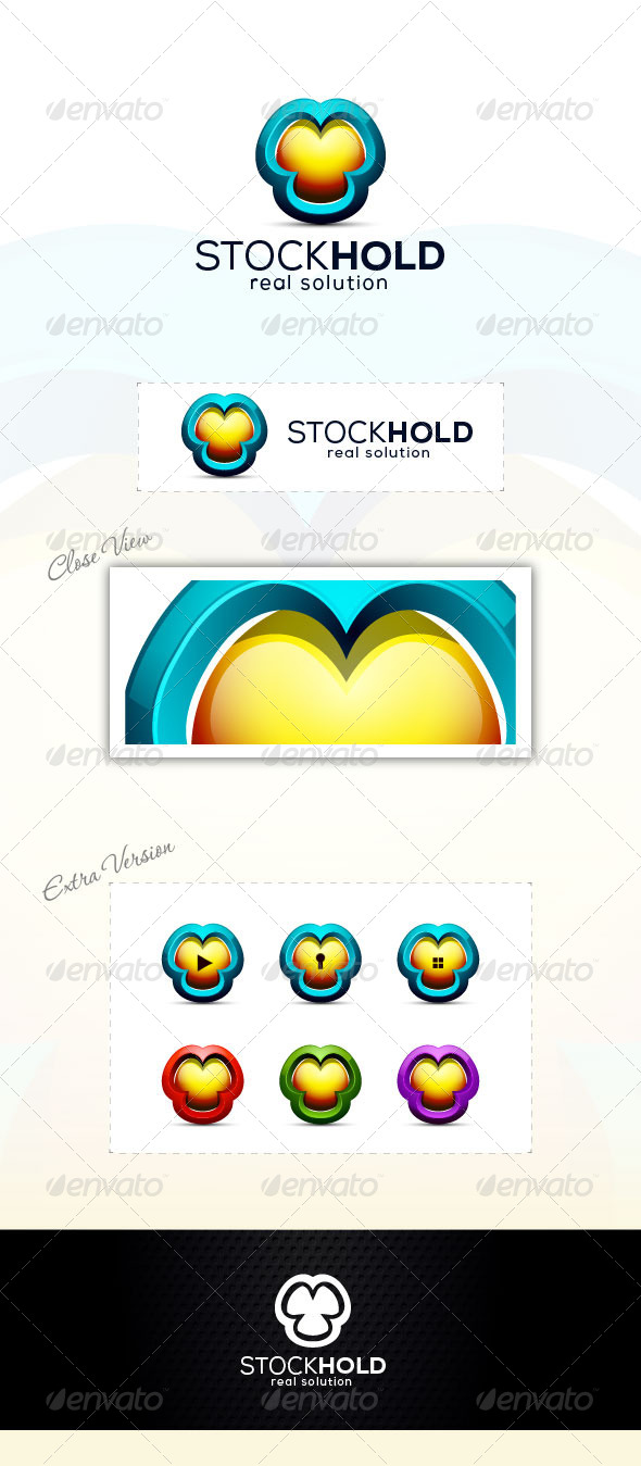 3D Hold Logo - 3d Abstract