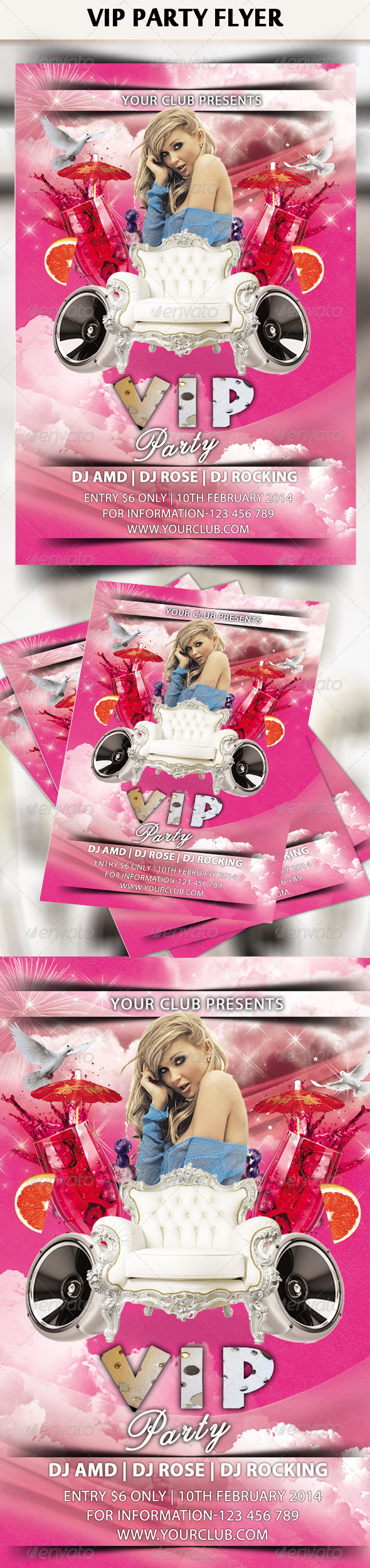 VIP / Royal Party Flyer - Clubs & Parties Events
