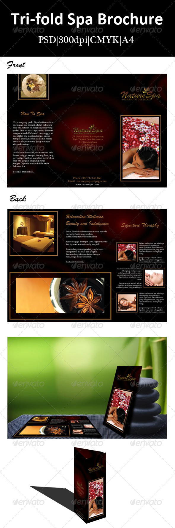 Tri-fold Spa Brochure - Corporate Brochures